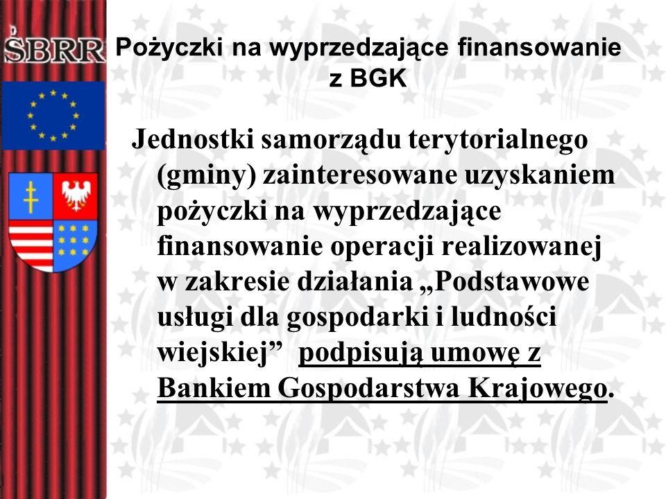 Pożyczki na wyprzedzające finansowanie z BGK Jednostki samorządu terytorialnego (gminy) zainteresowane uzyskaniem pożyczki na wyprzedzające finansowan