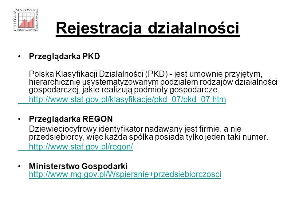 Rejestracja działalności Przeglądarka PKD Polska Klasyfikacji Działalności (PKD) - jest umownie przyjętym, hierarchicznie usystematyzowanym podziałem