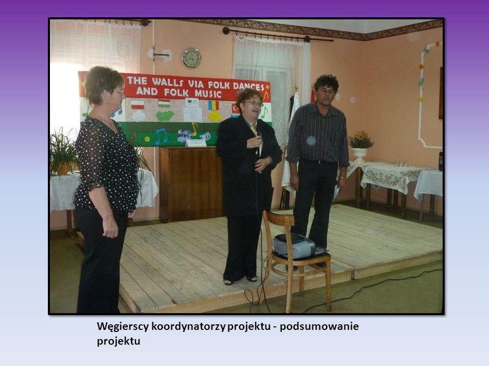 Węgierscy koordynatorzy projektu - podsumowanie projektu