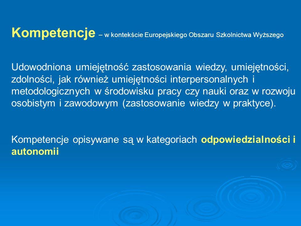 Ostatecznym rezultatem struktury kwalifikacji EOSW, spinającej jedną ramą struktury krajowe jest stworzenie przejrzystej mapy kwalifikacji (dyplomów i certyfikatów, które są ich potwierdzeniem) wydawanych w Europie tak, aby każdy absolwent mógł umieścić na niej swój dyplom i wiedzieć, w jakim miejscu europejskiej edukacji wyższej jest on ulokowany, z jakimi innymi dyplomami jest porównywalny, do wejścia na jakie następne etapy kształcenia go uprawnia, jakie kompetencje zawodowe poświadcza itp.