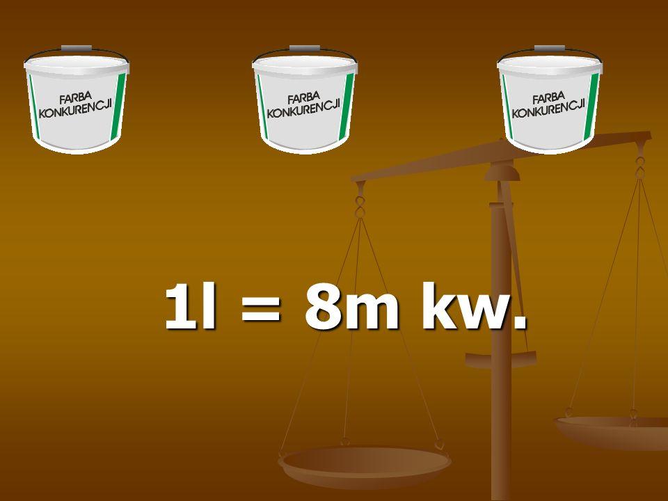 1l = 8m kw.