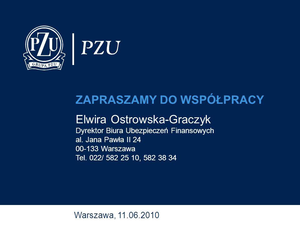 Warszawa, 11.06.2010 Elwira Ostrowska-Graczyk Dyrektor Biura Ubezpieczeń Finansowych al. Jana Pawła II 24 00-133 Warszawa Tel. 022/ 582 25 10, 582 38