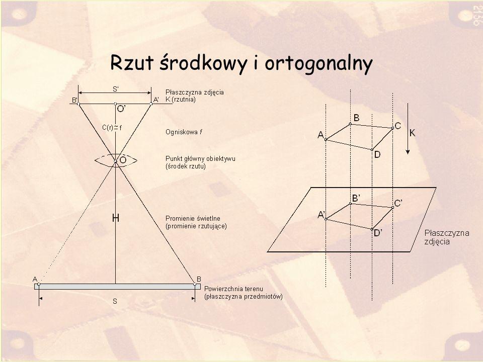 Przeprowadzenie ortorektyfikacji Proces / raster / photogrammetric modeling / orthorectification Wybór obrazu Wskazanie modelu terenu Wybór metody: Pixel by Pixel Wybór metody resamplingu: Cubic Convolution Obliczyć parametry (Compute) statystyczne orientacji kamery; jeżeli wszystko jest wykonane poprawnie parametry nie będą zerowe
