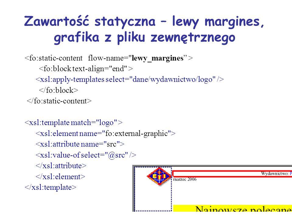 Zawartość statyczna – lewy margines, grafika z pliku zewnętrznego