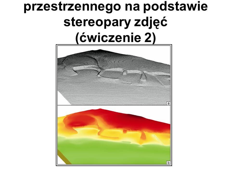 Tworzenie modelu przestrzennego na podstawie stereopary zdjęć (ćwiczenie 2)