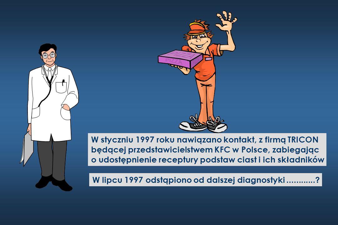 W styczniu 1997 roku nawiązano kontakt, z firmą TRICON będącej przedstawicielstwem KFC w Polsce, zabiegając o udostępnienie receptury podstaw ciast i