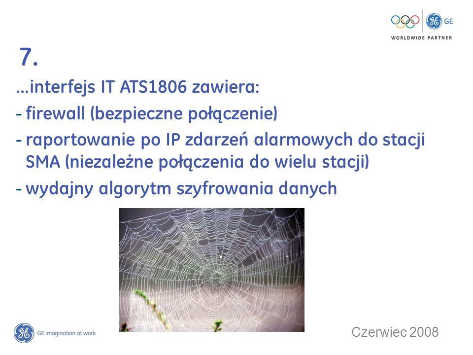 Czerwiec 2008 8....ATS współpracuje z cyfrowymi rejestratorami CCTV produkcji GE Security.