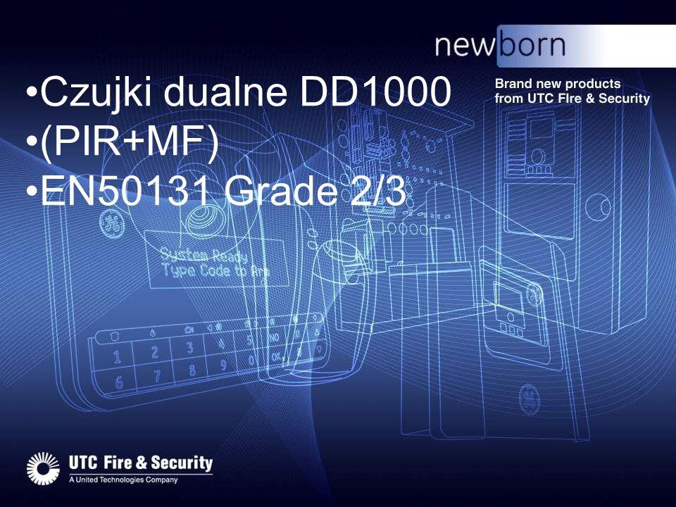 Nowe czujki dualne rodziny DD1000 DD1012 DD1012PI DD1012AM DD1012RAM DD1012-D DD1012AM-D DDV1016 DDV1016AM modele bez układu AM –Grade 2 modele z układem AM tylko dla części mikrofalowej (RAM) –Grade 2 modele z pełnym AM –Grade 3