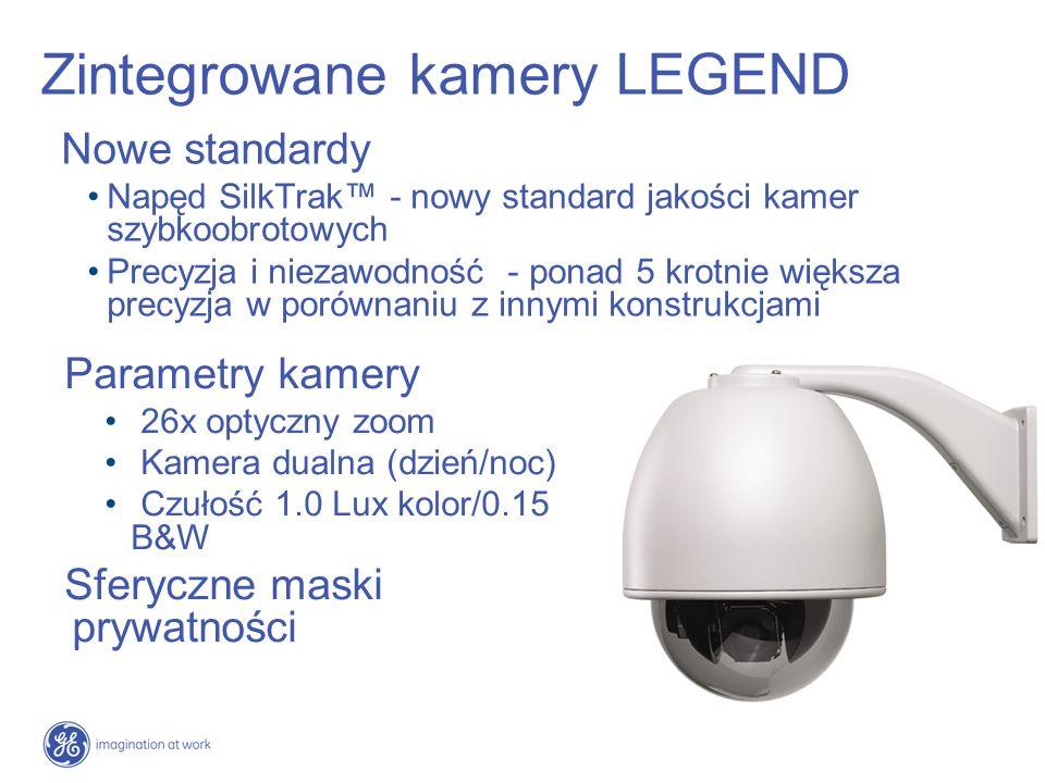Zintegrowane kamery LEGEND Nowe standardy Napęd SilkTrak - nowy standard jakości kamer szybkoobrotowych Precyzja i niezawodność - ponad 5 krotnie więk
