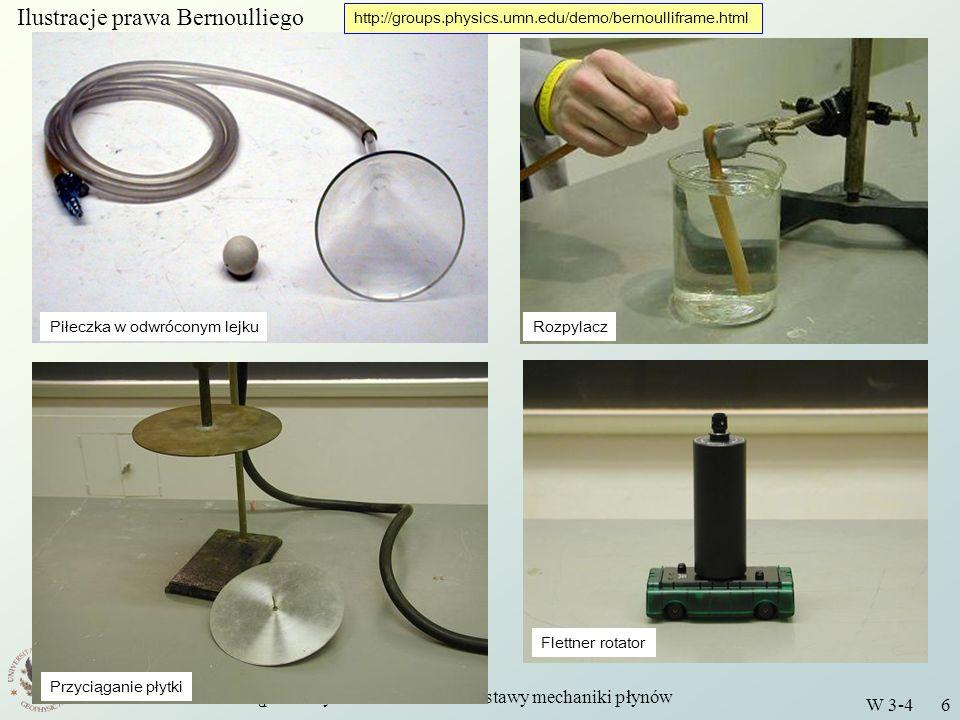 Wstęp do Fizyki Środowiska - Podstawy mechaniki płynów W 3-4 17 Pytania i zadania