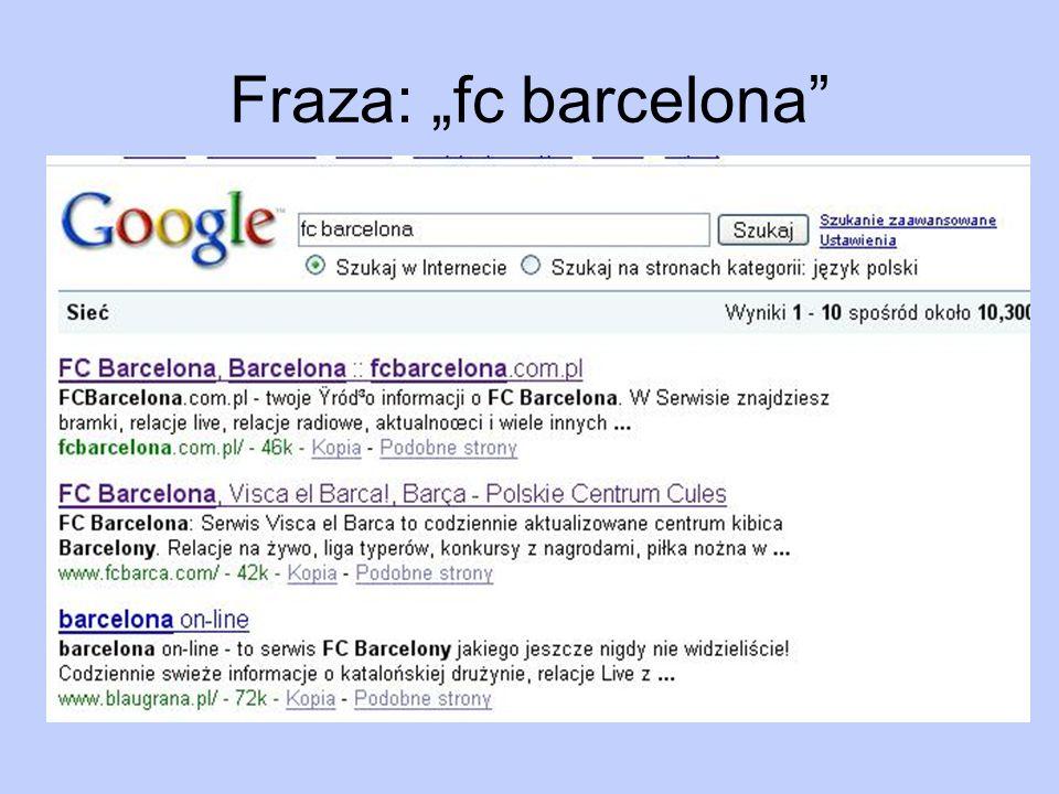 Fraza: fc barcelona