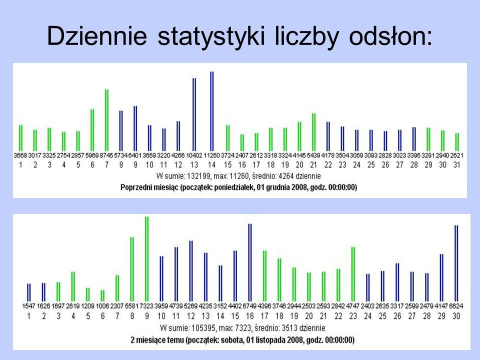 Stały rozwój serwisu Zaprezentowane statystyki z ostatnich dwóch miesięcy (listopad, grudzień 2008) w sposób dobitny ukazują perspektywy serwisu fcbarcelona.com.pl.