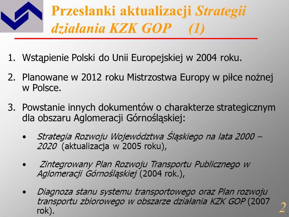 Strategia działania KZK GOP na lata 2008 - 2020 1