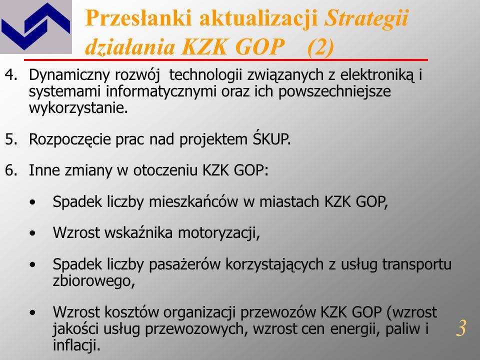 Przesłanki aktualizacji Strategii działania KZK GOP (1) 1.Wstąpienie Polski do Unii Europejskiej w 2004 roku. 2.Planowane w 2012 roku Mistrzostwa Euro