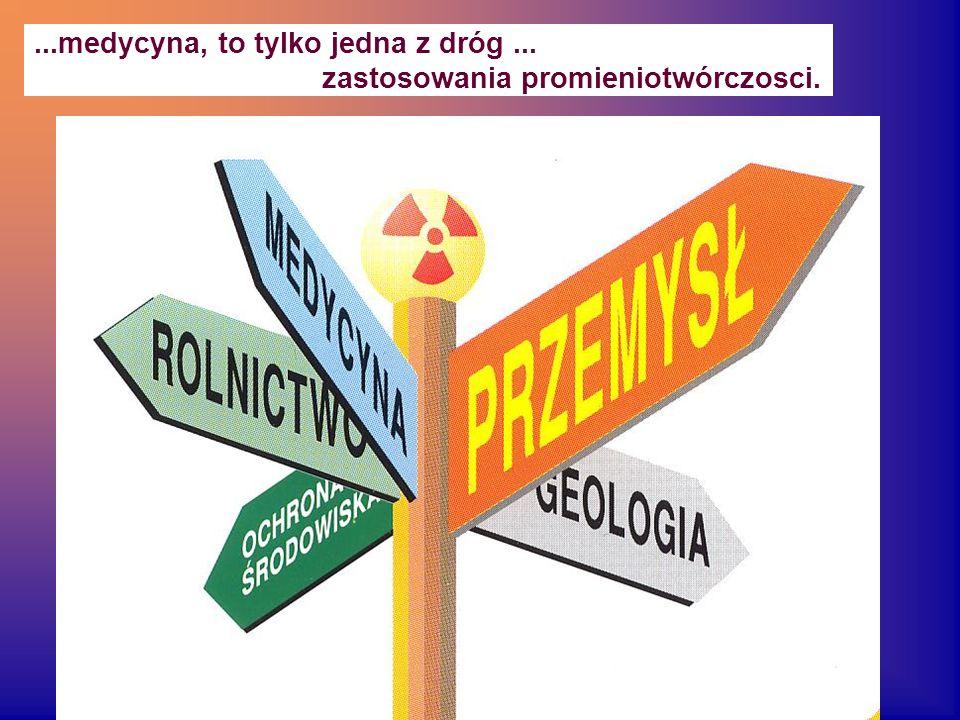 ...medycyna, to tylko jedna z dróg... zastosowania promieniotwórczosci.