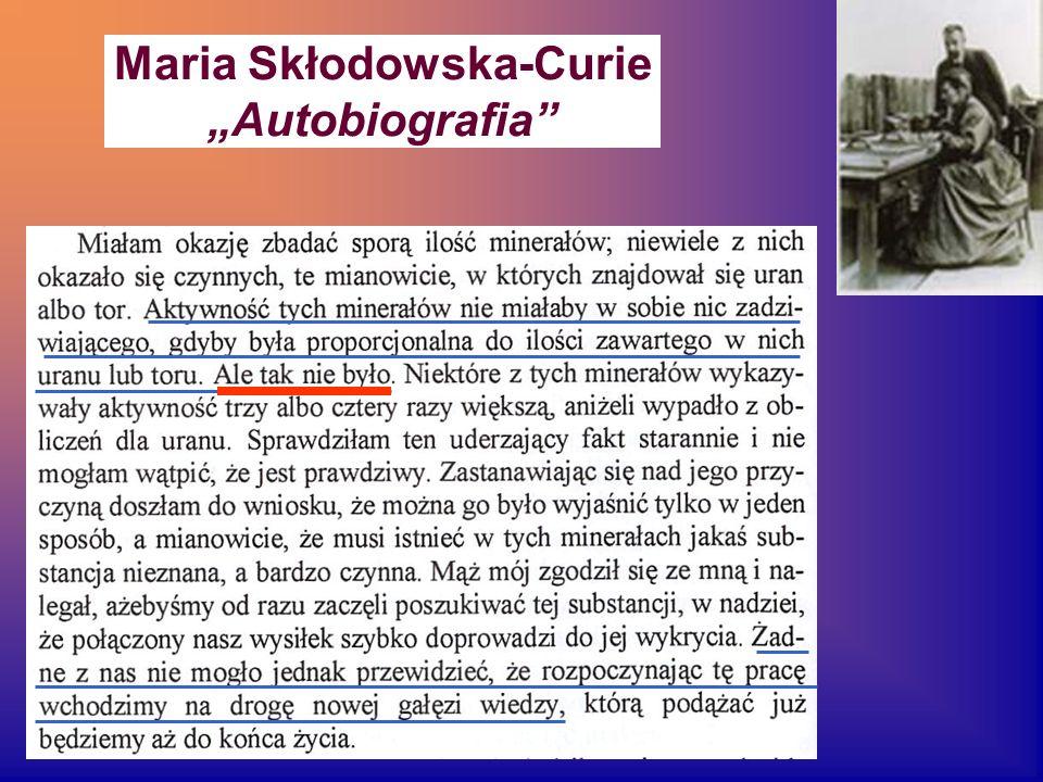 Maria Skłodowska-Curie Autobiografia