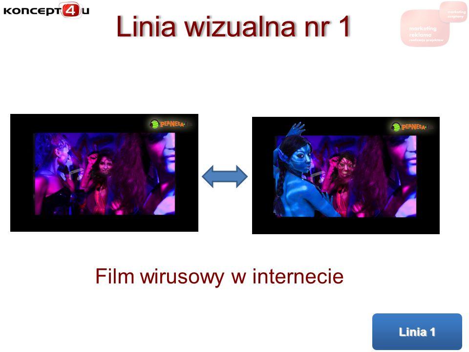 Linia wizualna nr 1 Film wirusowy w internecie Linia 1