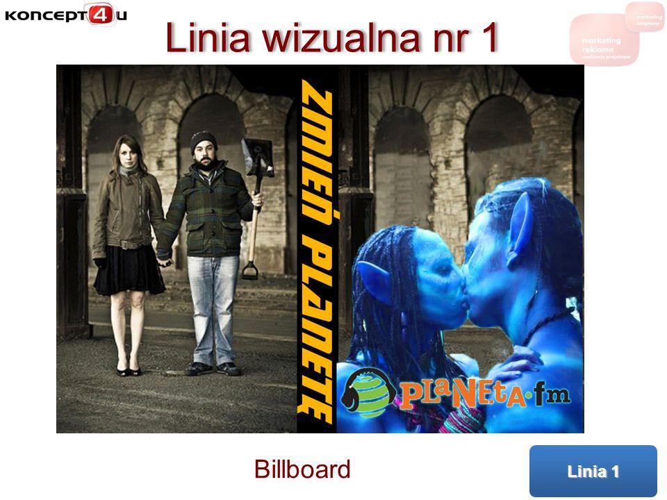 Linia wizualna nr 1 Billboard Linia 1