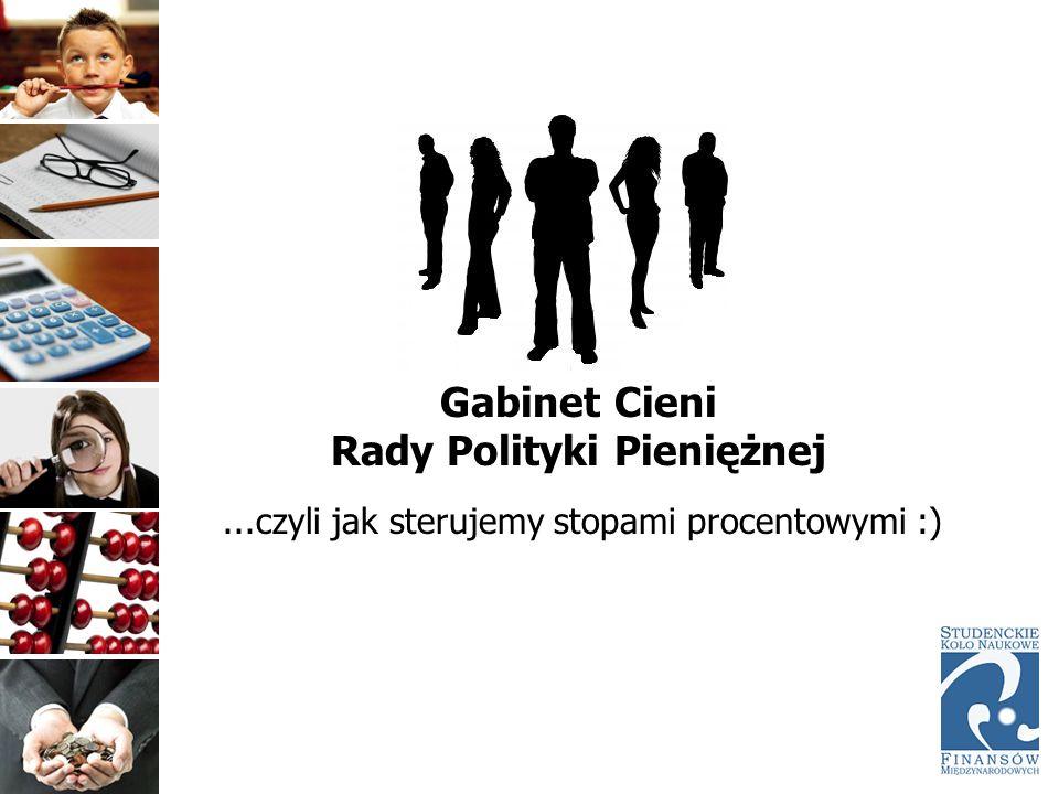 Gabinet Cieni Rady Polityki Pieniężnej...czyli jak sterujemy stopami procentowymi :)