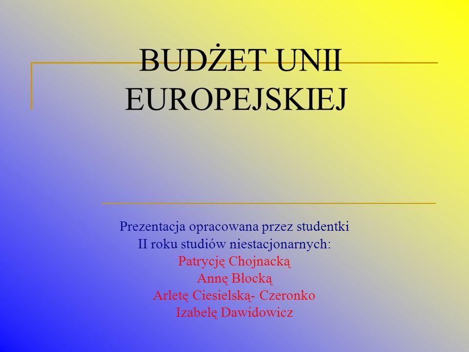 KOSZTY ADINISTRACYJNE Około 6 centów z każdego euro wydanego z budżetu przeznacza się na pokrycie kosztów funkcjonowania Unii Europejskiej.