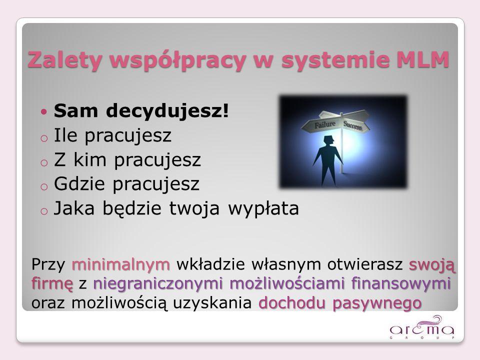 Zalety współpracy w systemie MLM Sam decydujesz.