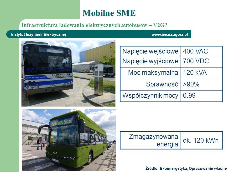 Instytut Inżynierii Elektrycznej www.iee.uz.zgora.pl Napięcie wejściowe400 VAC Napięcie wyjściowe700 VDC Moc maksymalna120 kVA Sprawność>90% Współczyn