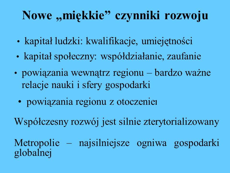 Globalna sieć metropolitalna Źródło: GAWC, http://www.lboro.ac.uk/gawc/citymap.html