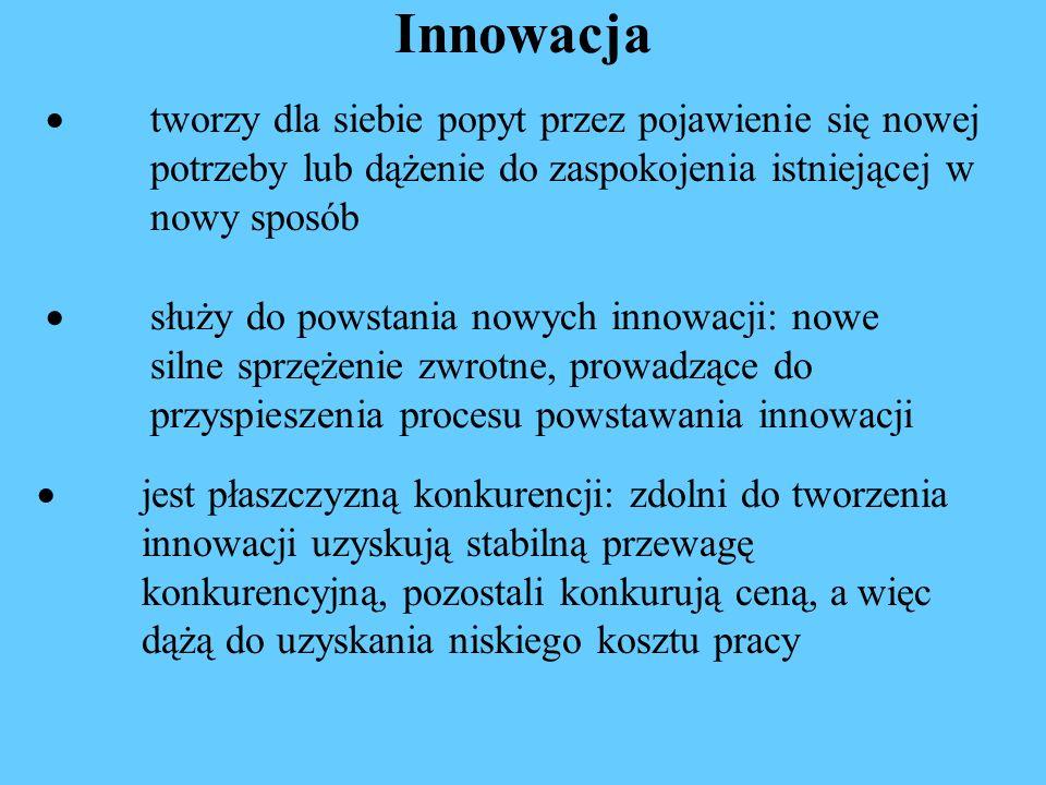 Przesłanie Jeżeli chcesz wygrać konkurencję cenową musisz być tani – a więc BIEDNY Jeżeli chcesz być bogaty – musisz być INNOWACYJNY Jakie miejsce Polska chce zająć w światowym podziale na segment wysoki i niski.