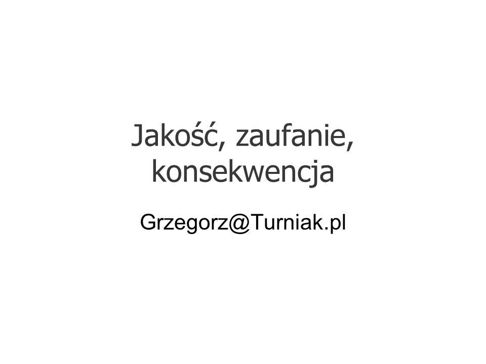 Jakość, zaufanie, konsekwencja Grzegorz@Turniak.pl