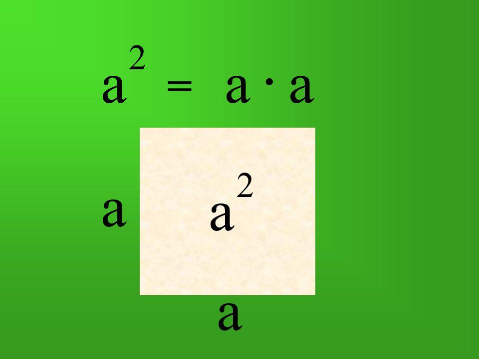 a 2 = aa. a a a 2
