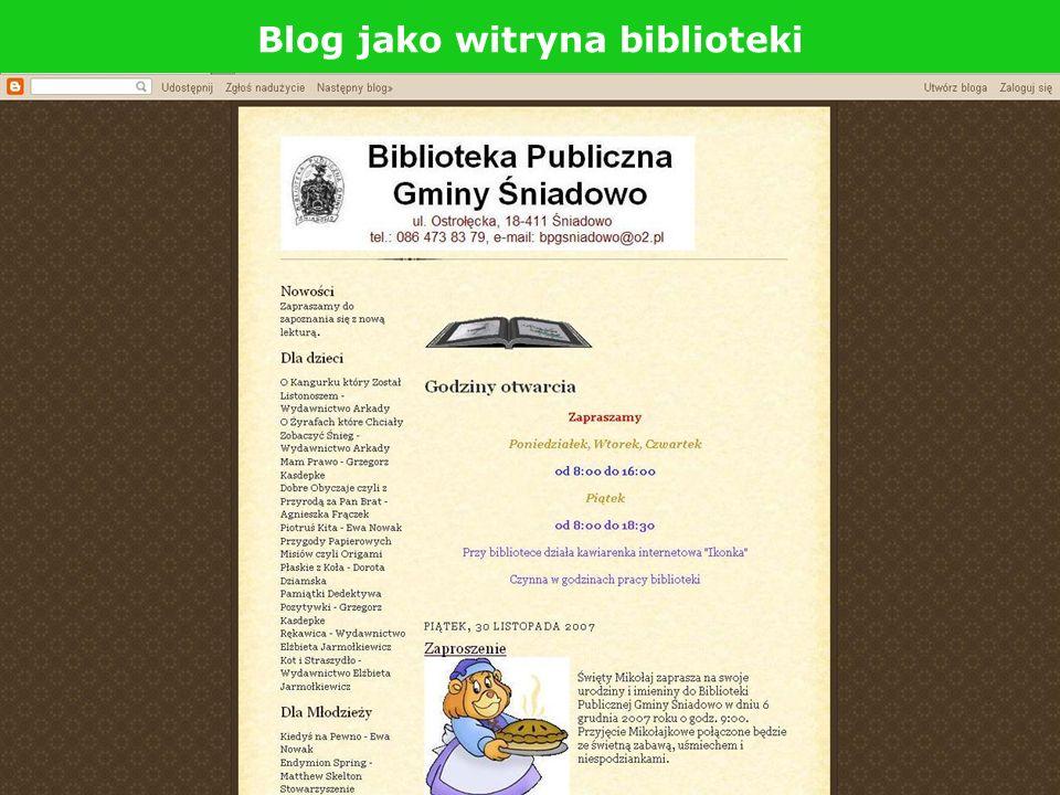 Blog jako witryna biblioteki