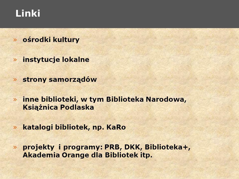 »ośrodki kultury »instytucje lokalne »strony samorządów »inne biblioteki, w tym Biblioteka Narodowa, Książnica Podlaska »katalogi bibliotek, np.