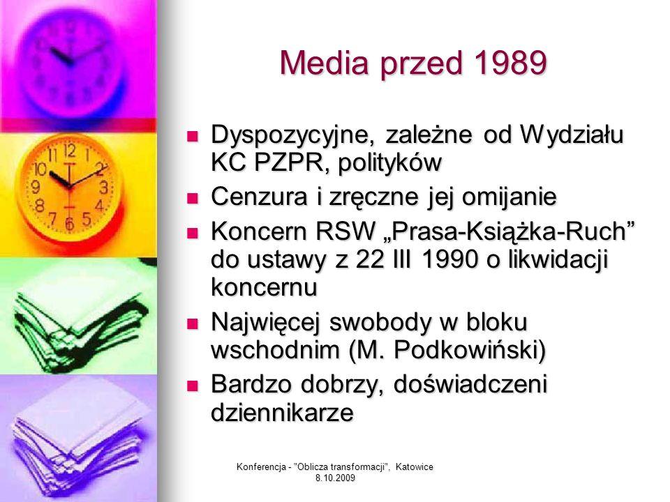 Konferencja - Oblicza transformacji , Katowice 8.10.2009 Transformacja przemiana, przeobrażenie, przekształcenie przemiana, przeobrażenie, przekształcenie (sł.