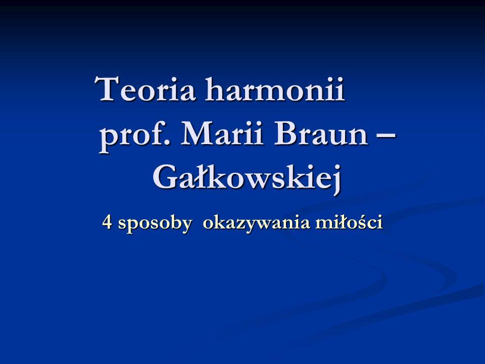 Teoria harmonii prof. Marii Braun – Gałkowskiej 4 sposoby okazywania miłości