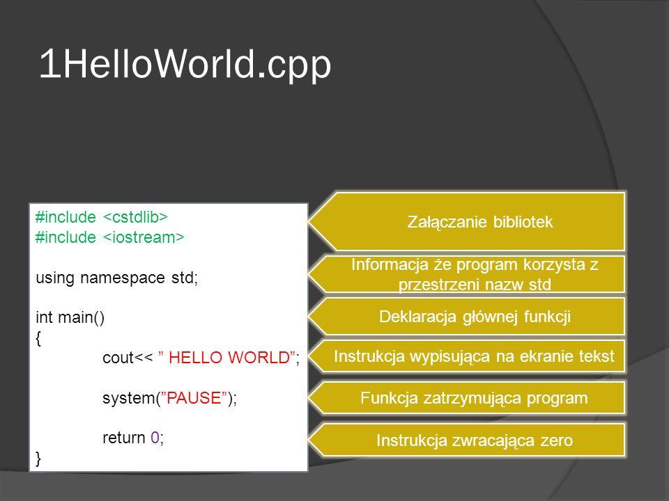 2Porownywanie.cpp START Wpisz: a, b a>b Wypisz: b jest większe od a KONIEC TAKNIE #include <cstdlib> #include <iostream> using namespace std; int a,b; int main() { cin>>a>>b; if (a>b) { cout<< A jest większe; } else { cout<< B jest większe; } system(PAUSE); return 0; } Wypisz: a jest większe od b