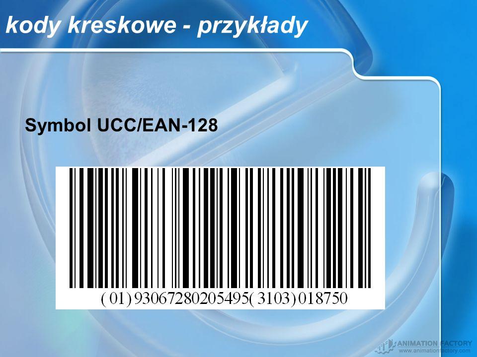 kody kreskowe - przykłady Symbol UCC/EAN-128