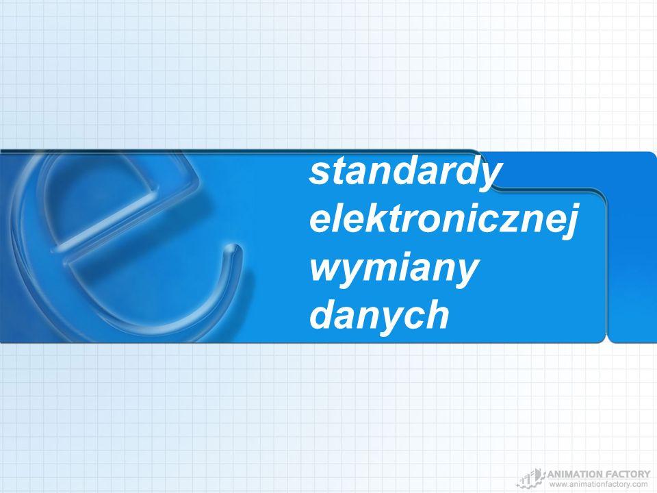 standardy elektronicznej wymiany danych