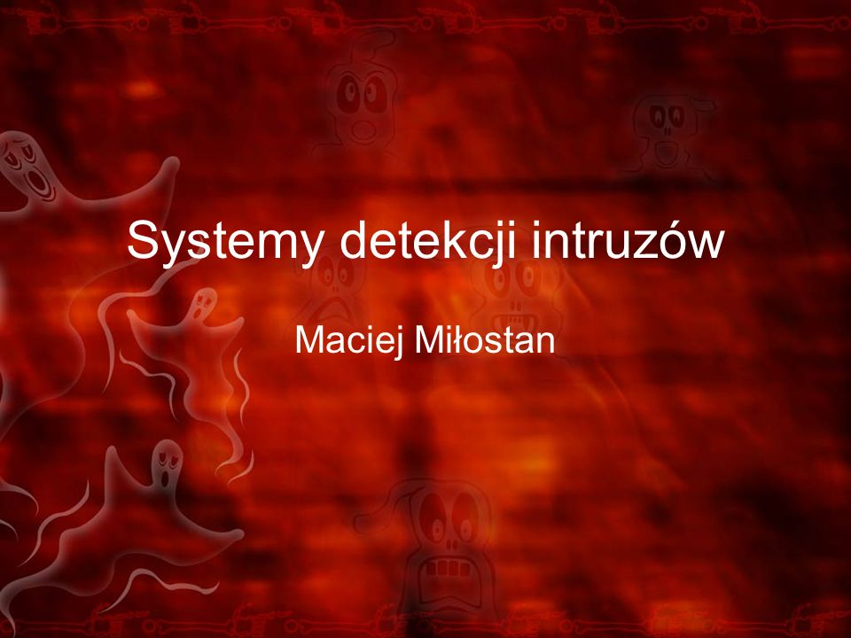 Aplikacje zarządzające SnortCenter http://users.pandora.be/larc/index.html IDS Policy Manager (Windows) http://www.activeworx.org/programs/idspm/ /onlinehelp/idspm.htm IDScenter (Windows) http://www.engagesecurity.com/products/idscenter HenWen (Mac OS X) http://sourceforge.net/projects/henwen/