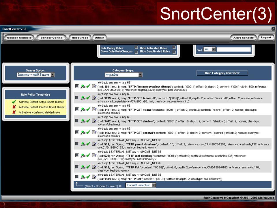 SnortCenter(3)