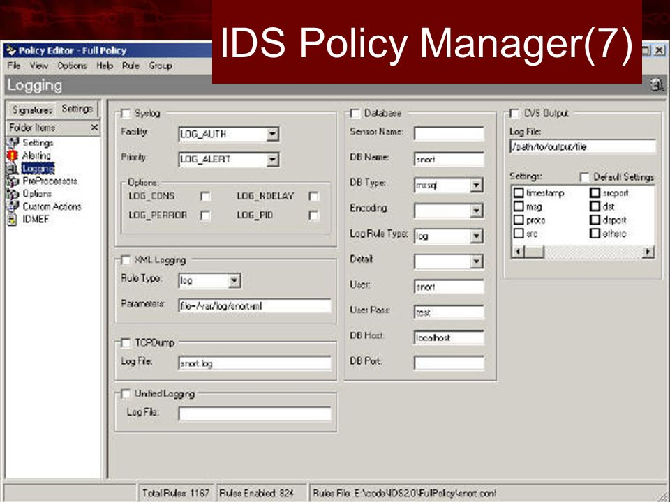 IDS Policy Manager(7)