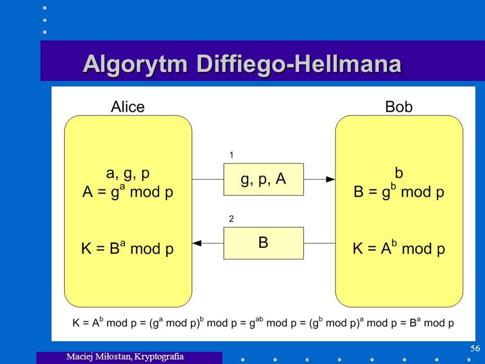Maciej Miłostan, Kryptografia 56 Algorytm Diffiego-Hellmana