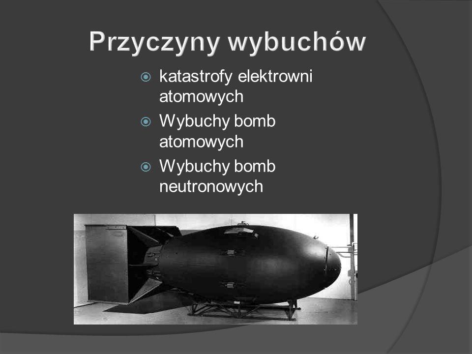 katastrofy elektrowni atomowych Wybuchy bomb atomowych Wybuchy bomb neutronowych