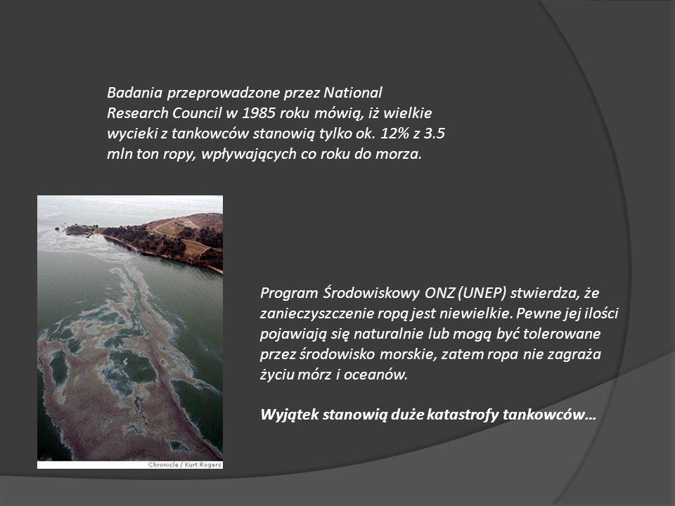 Program Środowiskowy ONZ (UNEP) stwierdza, że zanieczyszczenie ropą jest niewielkie.
