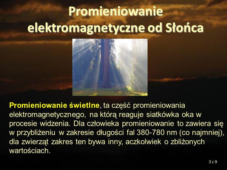 Promieniowanie świetlne, ta część promieniowania elektromagnetycznego, na którą reaguje siatkówka oka w procesie widzenia. Dla człowieka promieniowani
