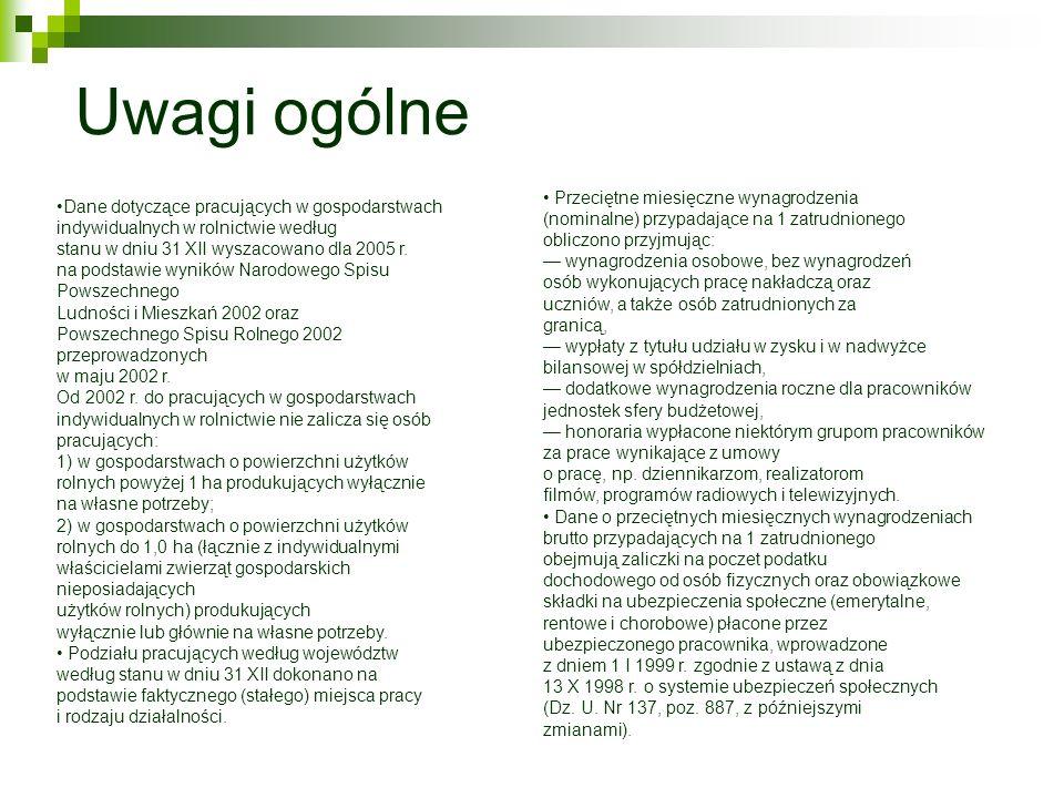 Interpretacja charakterystyk liczbowych na rok 2002 Liczba osób pracujących w Polsce w 2002 roku wyniosła w sumie 12 486 600 osób.