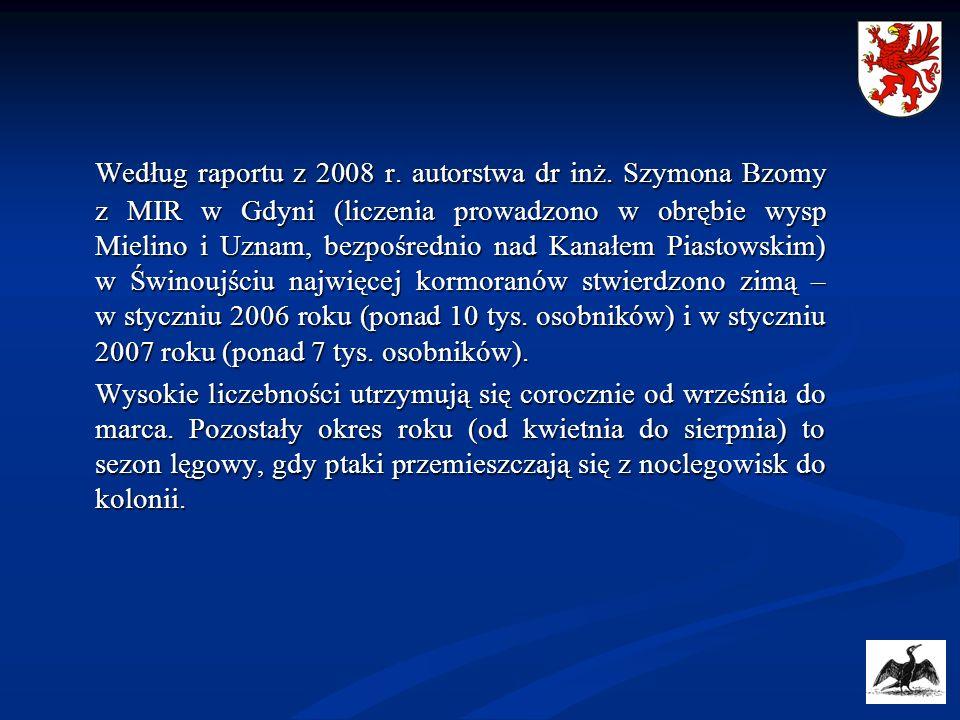 Według raportu z 2008 r. autorstwa dr inż. Szymona Bzomy z MIR w Gdyni (liczenia prowadzono w obrębie wysp Mielino i Uznam, bezpośrednio nad Kanałem P