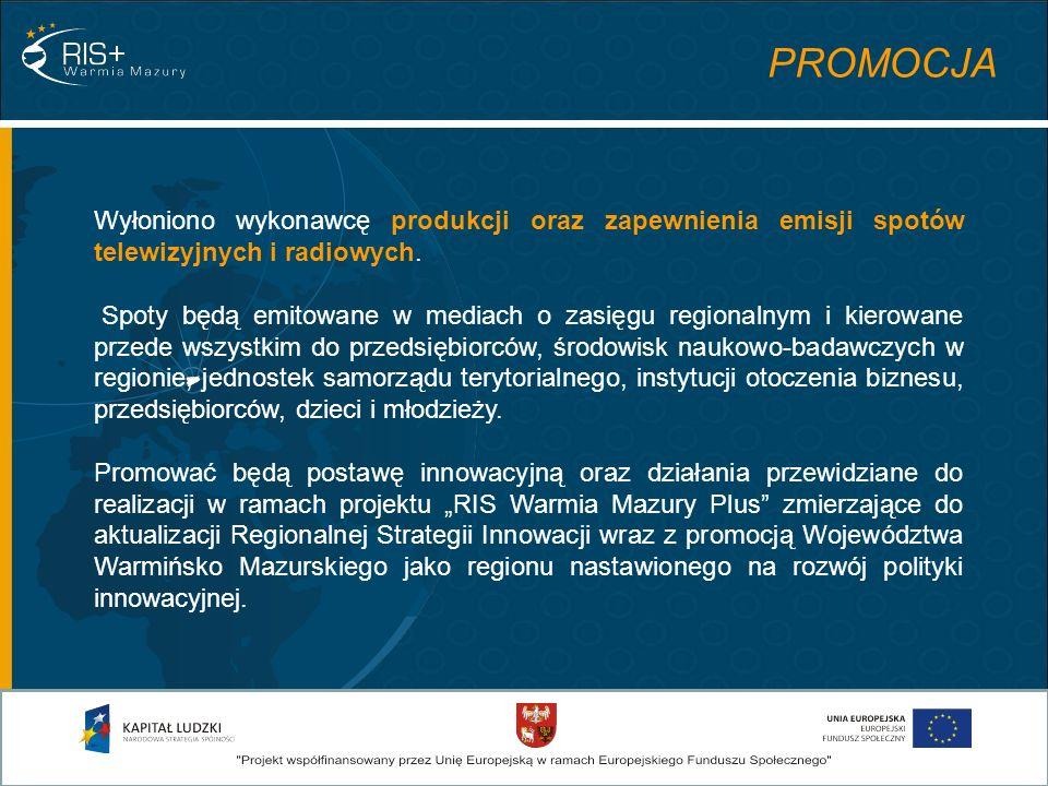 Analizy wstępne Aktualizacja Strategii Rekomendacje Konsultacje społeczne Opracowanie planu działań Opracowanie systemu przewidywania trendów innowacyjności w regionie Badanie Pilotażowe Opracowanie metodologii monitoringu ETAPY PRAC