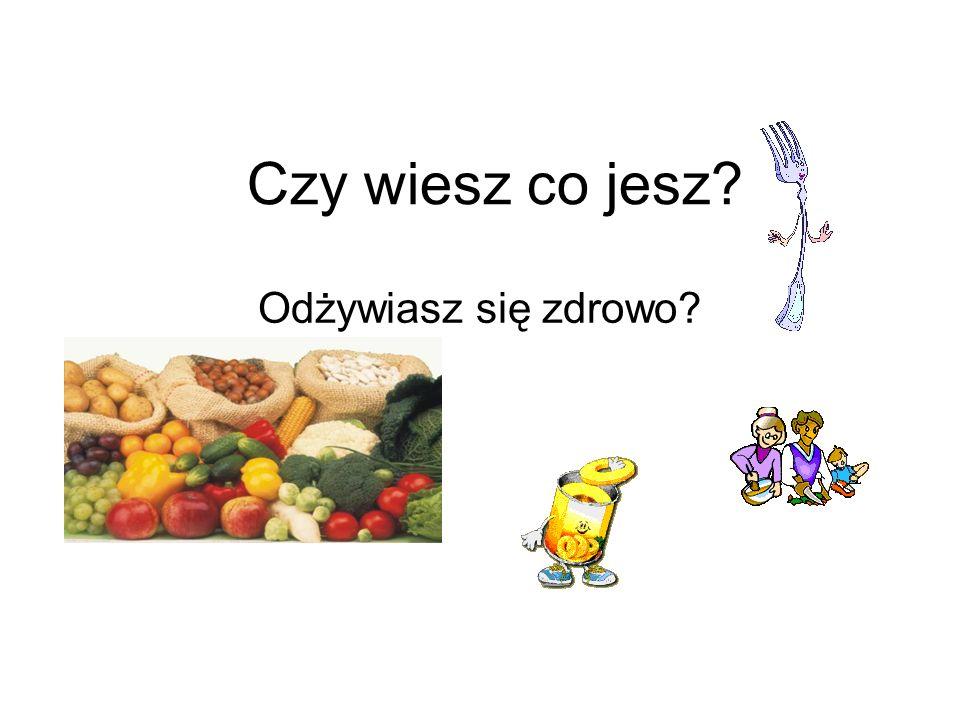 Czy wiesz co jesz? Odżywiasz się zdrowo?