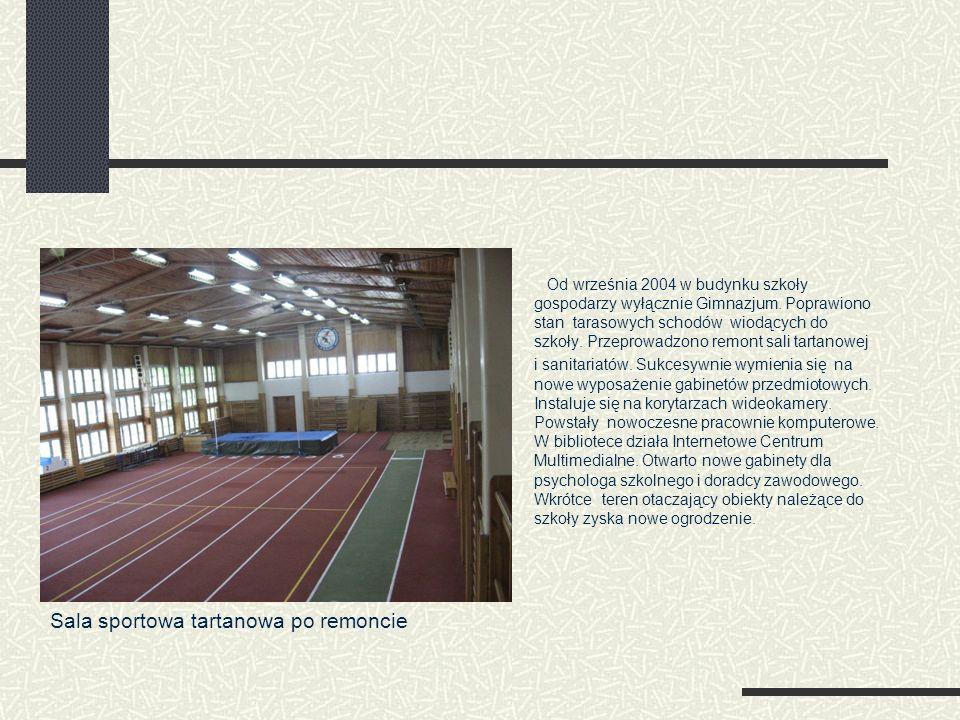 Od września 2004 w budynku szkoły gospodarzy wyłącznie Gimnazjum. Poprawiono stan tarasowych schodów wiodących do szkoły. Przeprowadzono remont sali t