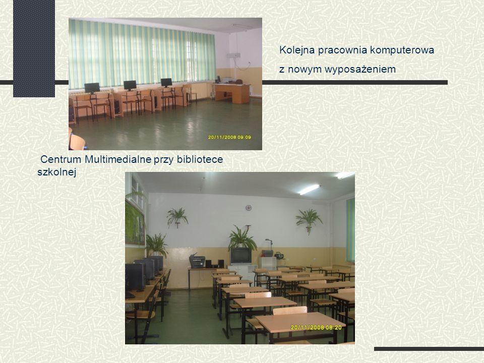 Kolejna pracownia komputerowa z nowym wyposażeniem Centrum Multimedialne przy bibliotece szkolnej